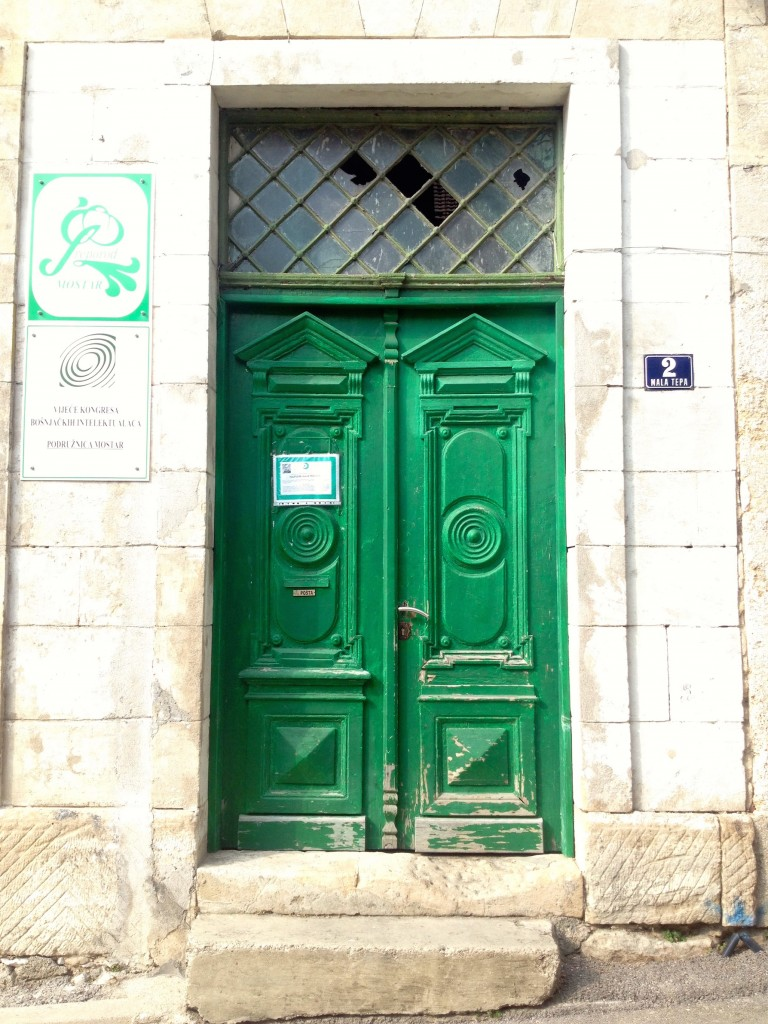 My love of doors continues. Sometimes wear and tear makes a door even more beautiful. There is so much to look at in Mostar, it is overwhelming.