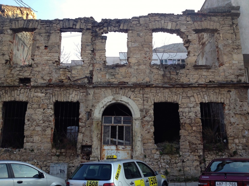 War Ruins in Mostar.