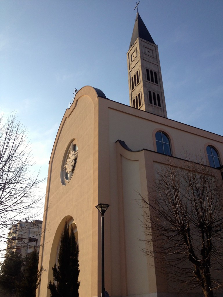 Mostar's new Catholic Church