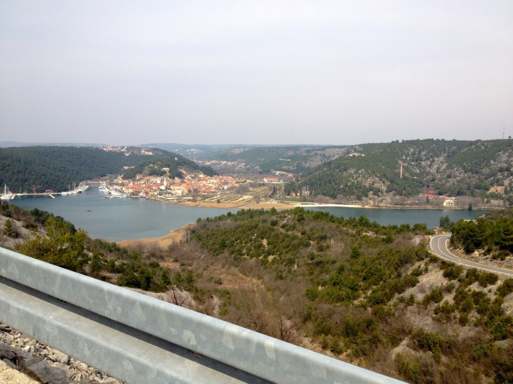 If you miss the boat in Skradin, the views on the short drive to Lozovac are amazing!