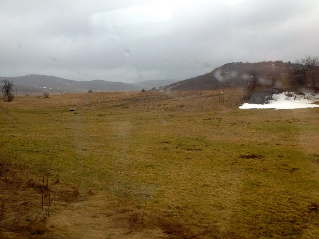 Snow on our train ride to Zagreb.