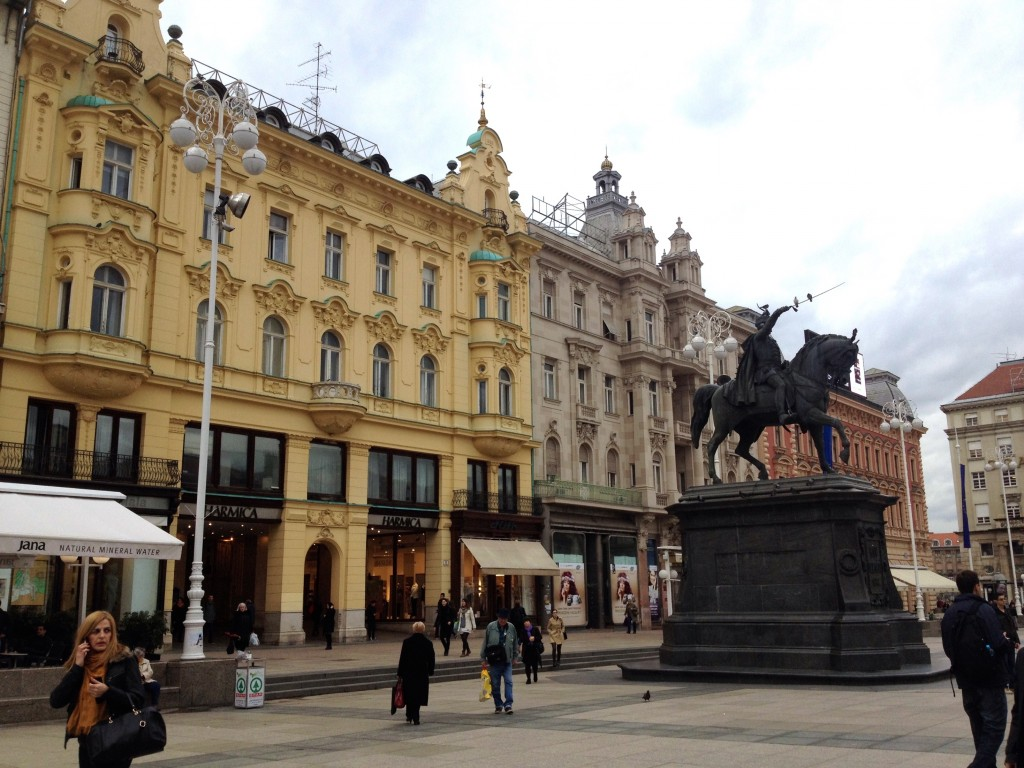 Jelačić Square, the heart of Zagreb.