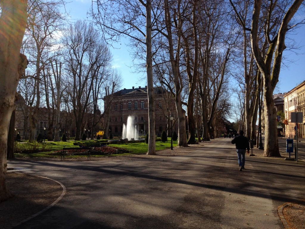 A Beautiful park in Zagreb.