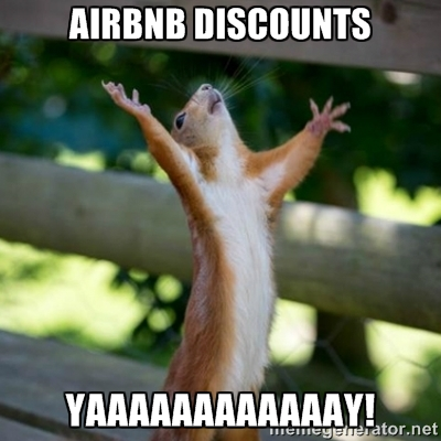 Even Squirrels love a good deal on an Airbnb.