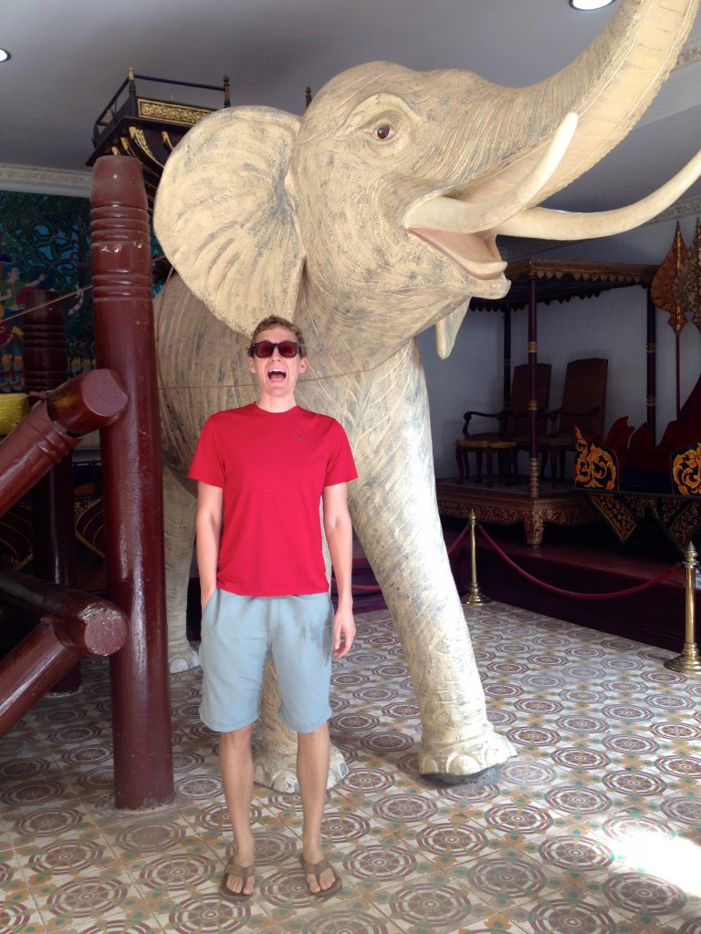 I am SO bringing a framed copy of this photo to my next White Elephant Gift Exchange... This was taken at the Royal Palace in Phnom Penh, Cambodia.