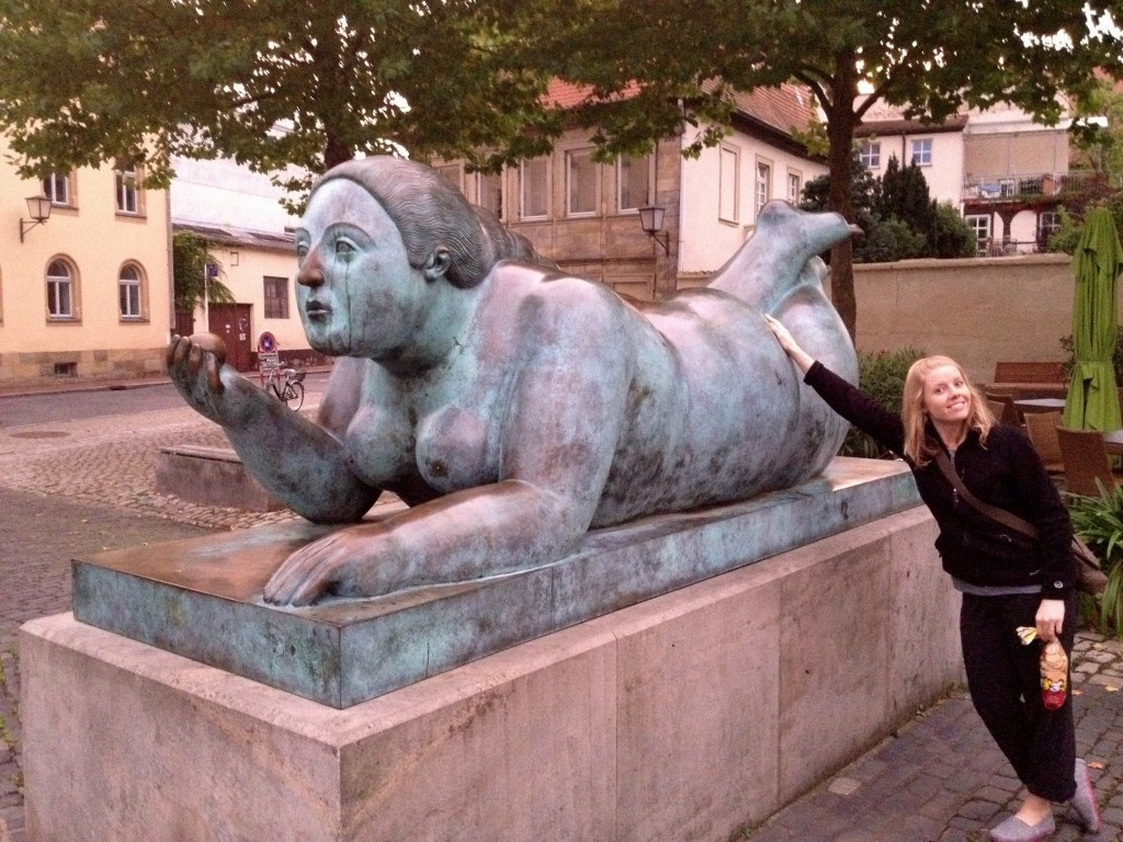 I just loved this statue - it was around the corner from an Airbnb apartment we rented in Bamberg, Germany in September 2012.