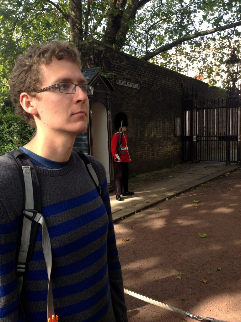 Guard Kevin in London, England.