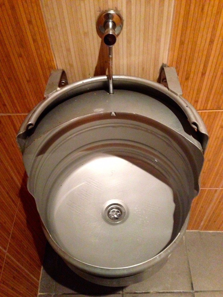 Why don't we have urinals like these in the States? It's almost cool enough to put in my house. Almost.