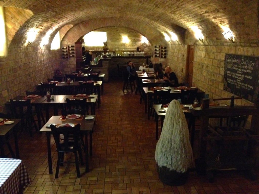 Nador restaurant is down the steps in this huge cellar-like room! Such a fun stop for lunch.