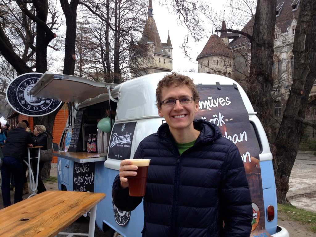 Nothing beats drinking a delicious dark wheat beer next to an old-ass castle.