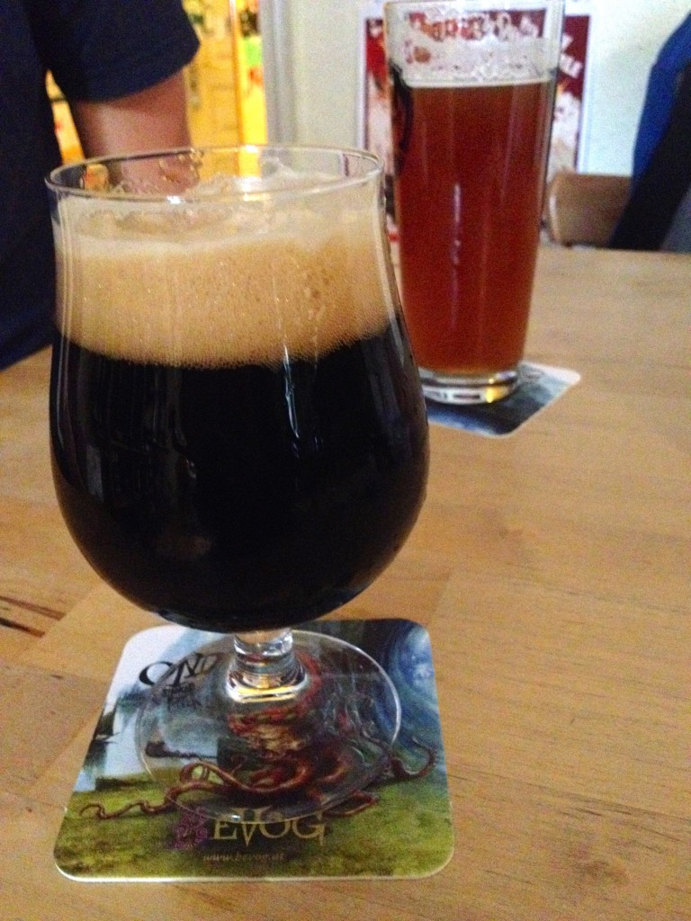 Beers on tap at Csak a Jó Sör. Kevin had the Citron IPA and I ordered the Coffee Porter. I'm STILL experiencing a coffee buzz from how much coffee they put in this puppy. TOO MUCH COFFEE.