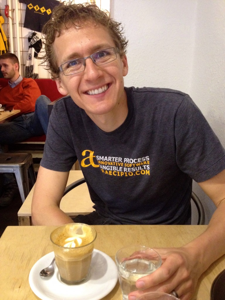 Enjoying some coffees in Budapest!