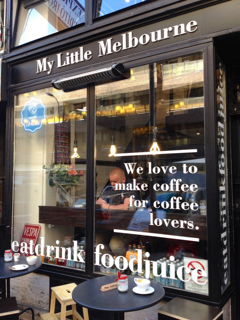 My Little Melbourne, such a cute little coffee shop.