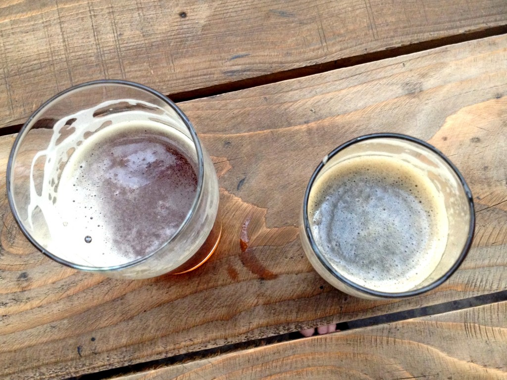 Left: Sorostyen Red Lager (Yum). Right: Mosaic in Black Porter.