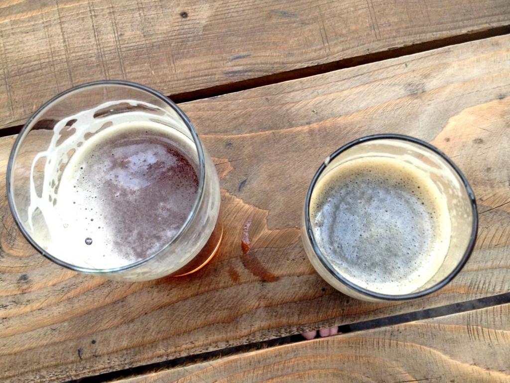 Left: Sorostyen Red Lager (Yum). Right: Mosaic in Black Porter.