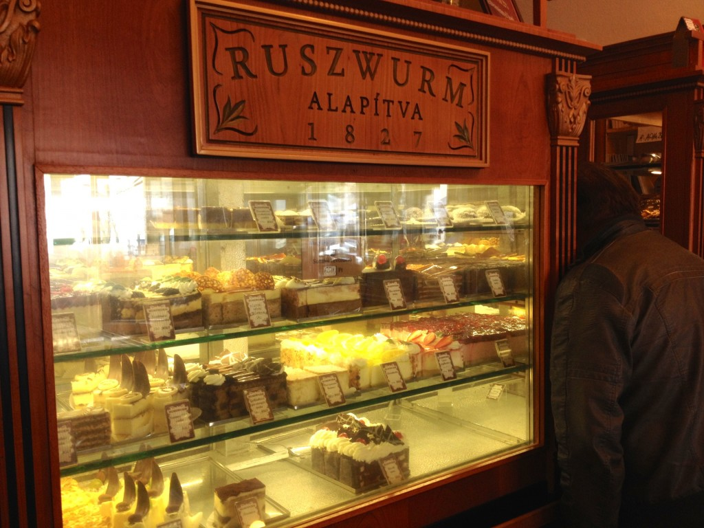 There is no shortage of cakes to choose from at Ruszwurm.
