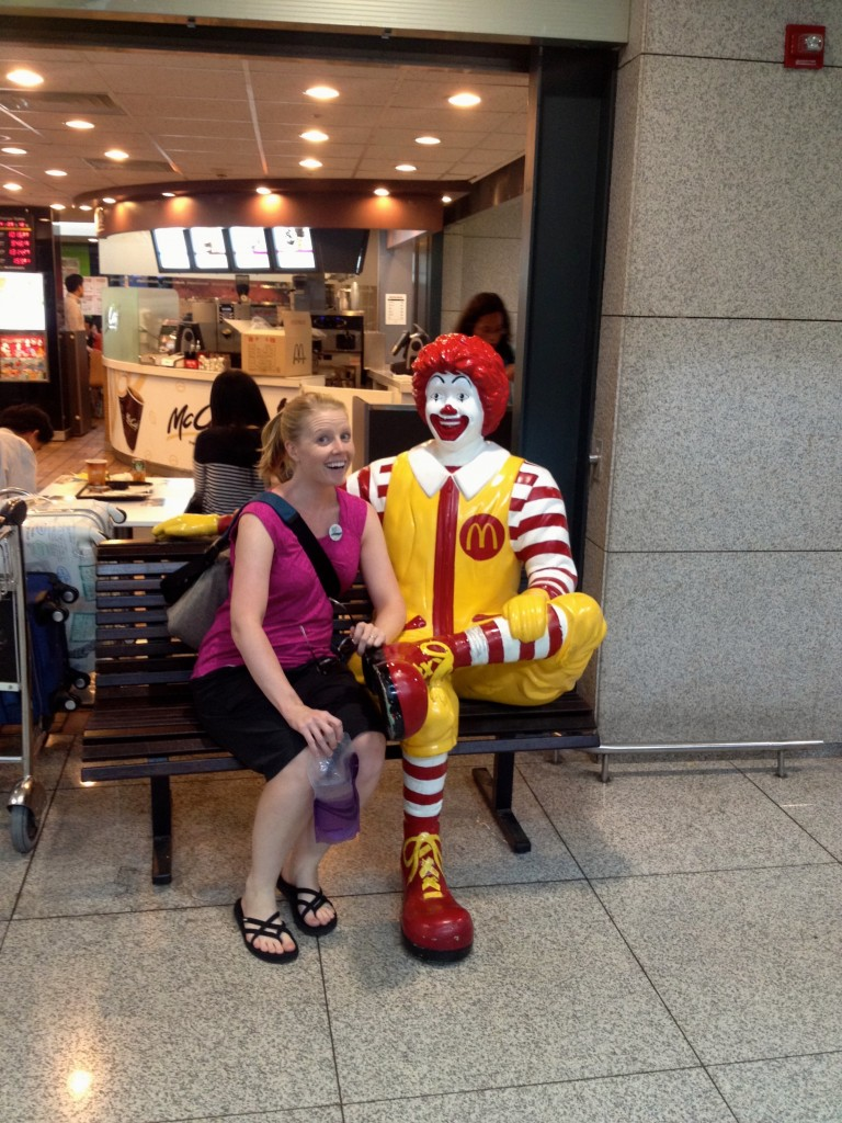 Ronald McDonald is everywhere in the world. We found him this time in Incheon Airport in South Korea.