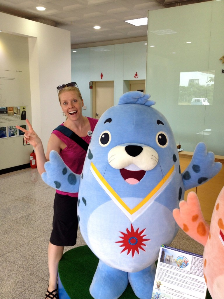 Being crazy on our layover tour of Incheon, South Korea.