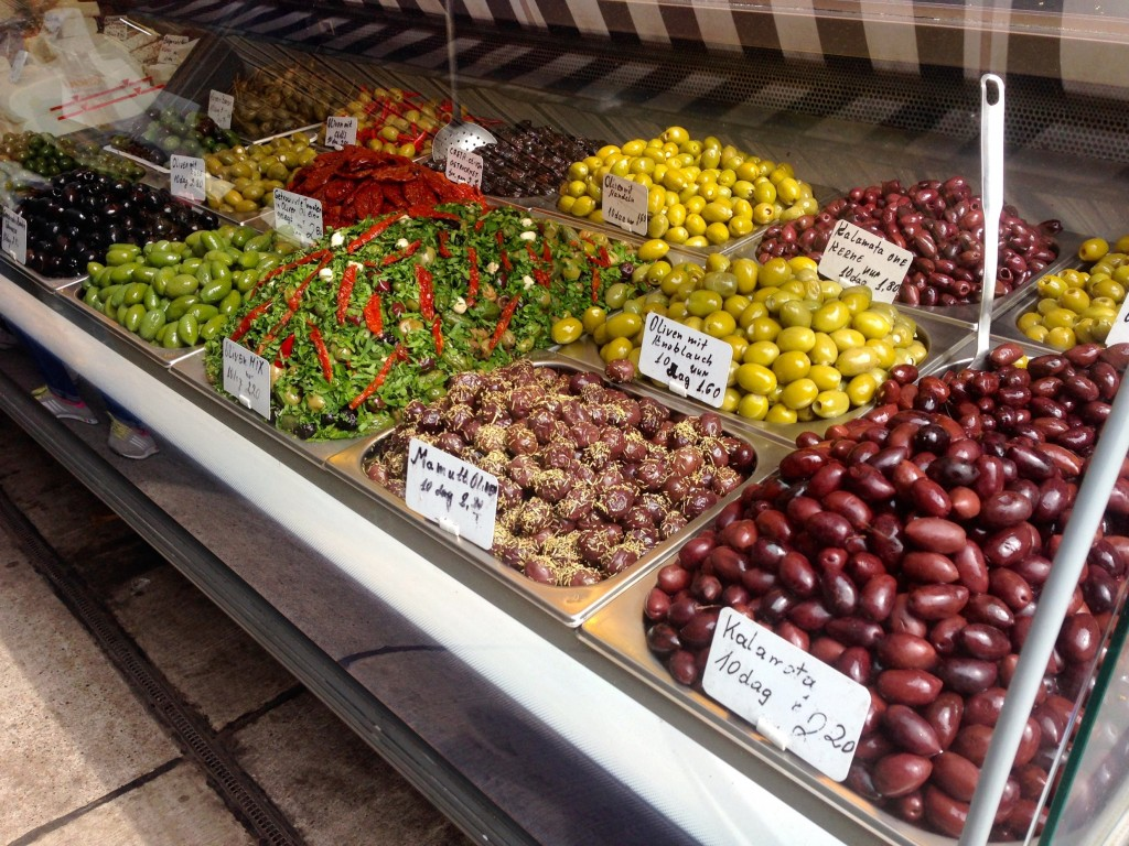 Mmmmmmm olives at Naschmarkt.