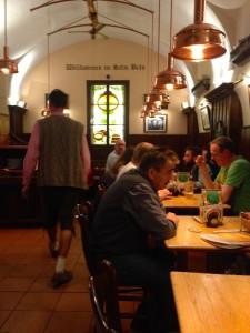 Waiters in leiderhosen!