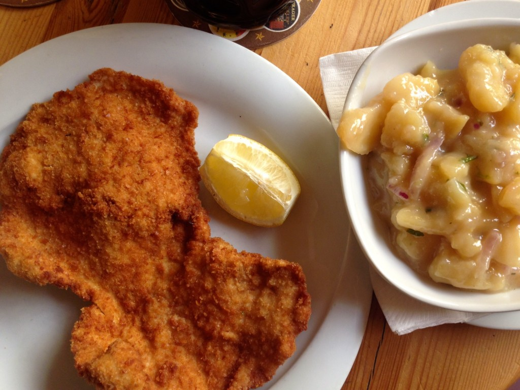 Viennese Schnitzel and Viennese Potato Salad for me. Yum!