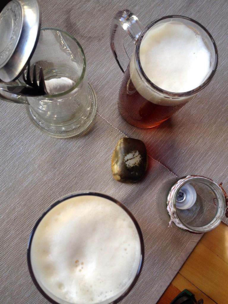 Beers at Stadtbrauerei Schwarzenberg.