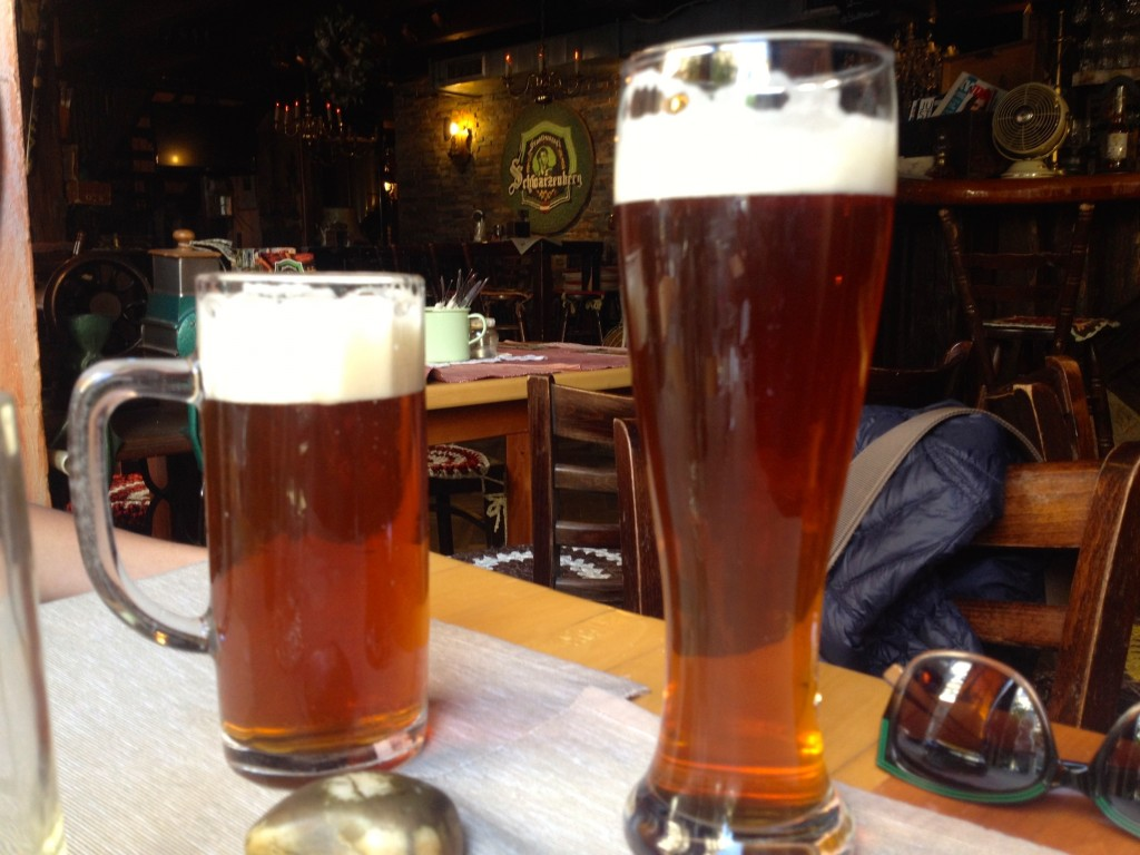 Left: Maibock. Right: Honey Ale.