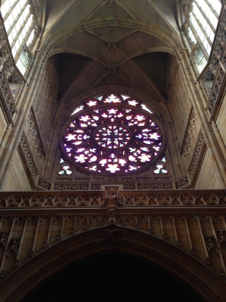 Inside the St. Vitus Cathedral.