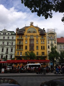 The super art-nouveau Grand Hotel Europa in Prague. Reminds me of the Grand Budapest Hotel movie!
