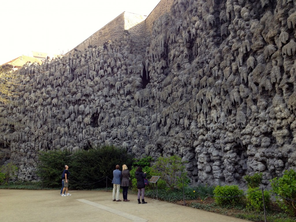 Inside the Wallenstein Palace Gardens, this is the grotto wall. It was weird, but there were live owls hanging out in a big cage at the end of it.