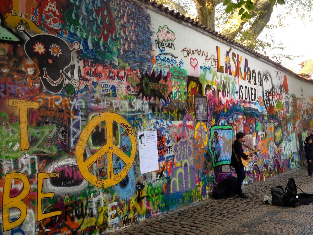 Musician at the Lennon Wall!
