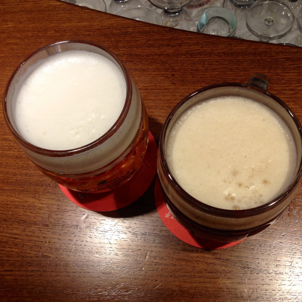 Left: Budvar, the original Budweiser. Right: Oldgott Barigue.