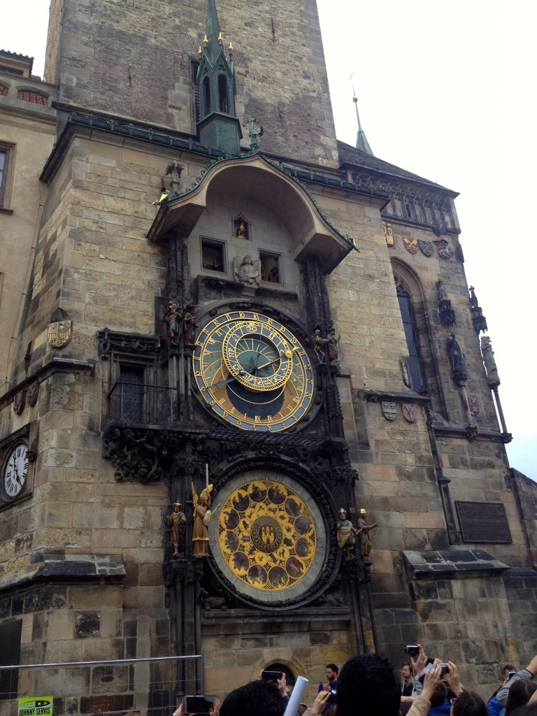 Clearly, we went to watch the famous Astrological Clock strike the hour in Prague.