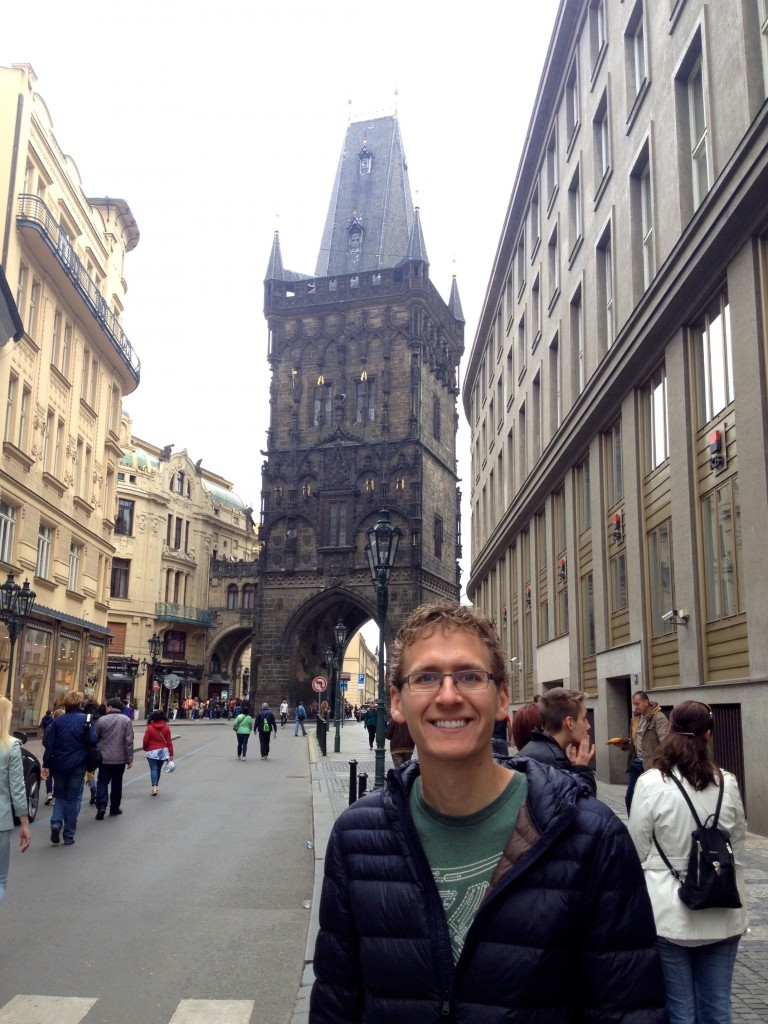 Prague's Powder Tower, which used to be the Gothic Gate of town hall and housed the city's gunpowder back in the day.