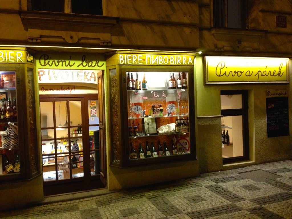 Look for this store front! Hello, Pivo a Párek!