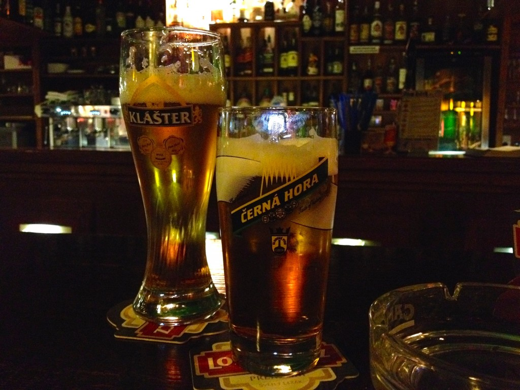 Left: Klášter Kvasnicovy. Right: Kvasar Honey Beer.