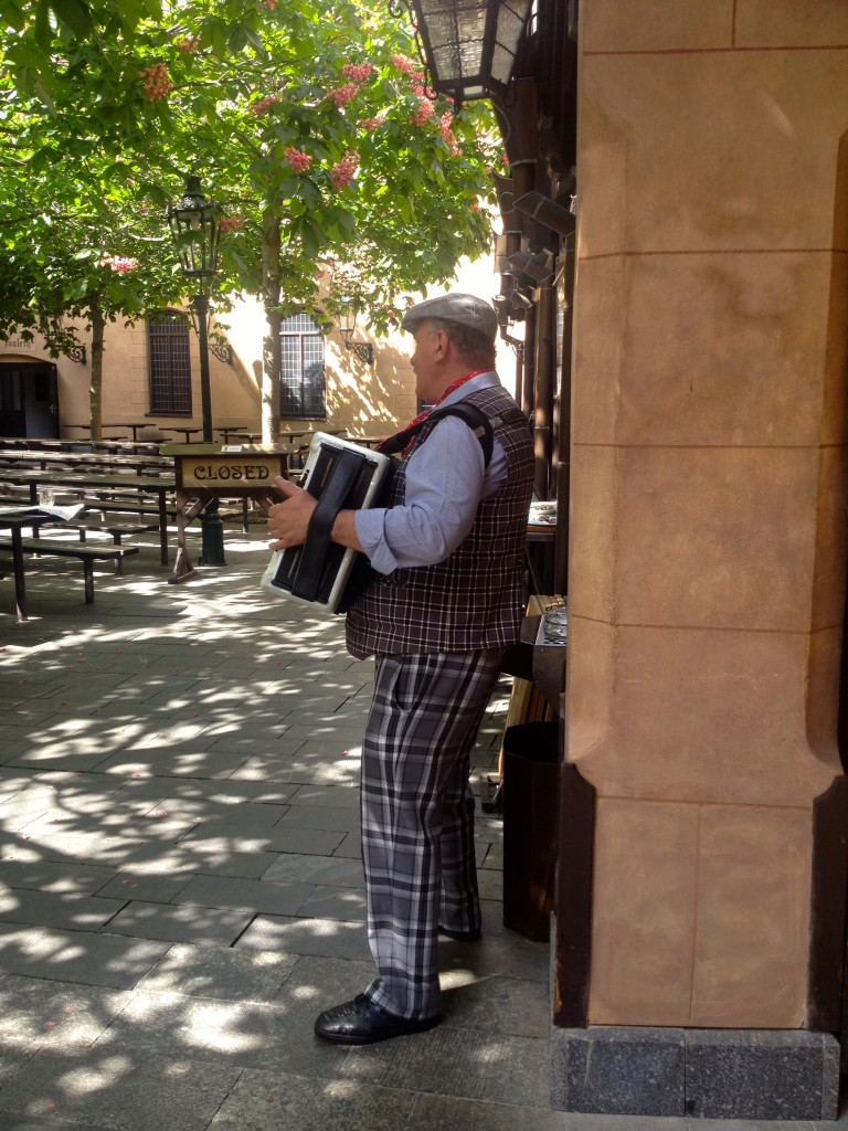 Accordion player! I think I'll play accordion at beer halls when I retire. A girl can dream.