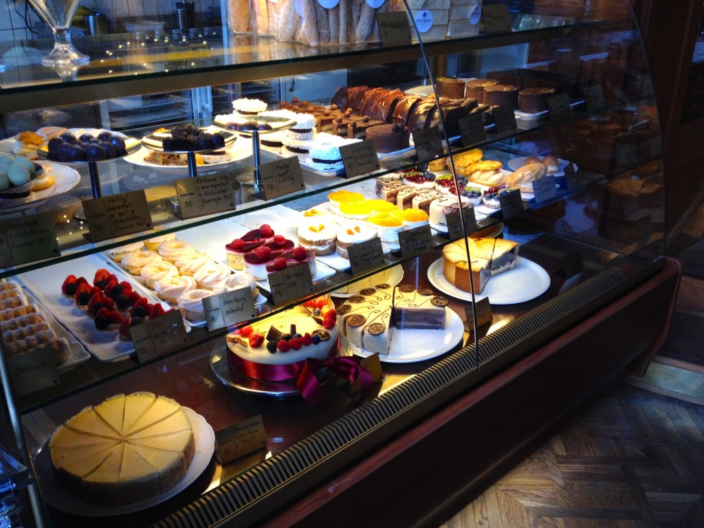 Tasty desserts at Cafe Savoy.
